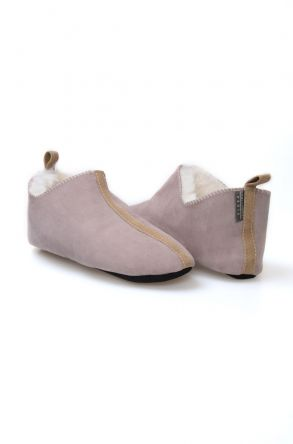 Pegia Women Sheepskin House Slippers 980496 Beige