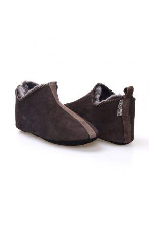 Pegia Women's Sheepskin Home Slippers 980515 Brown