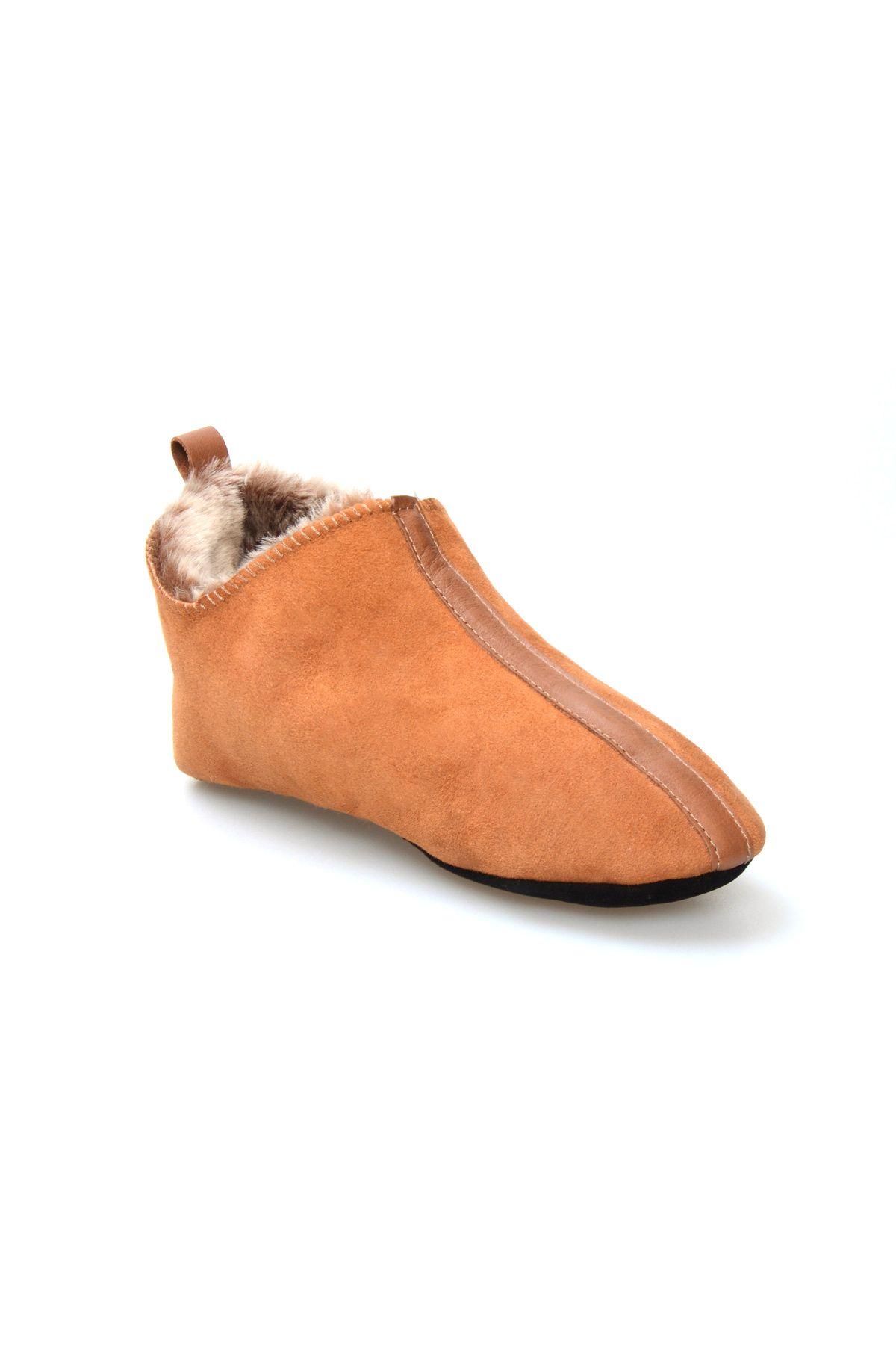 Pegia Genuine Suede Sheepskin Women Slipppers 980520 Ginger