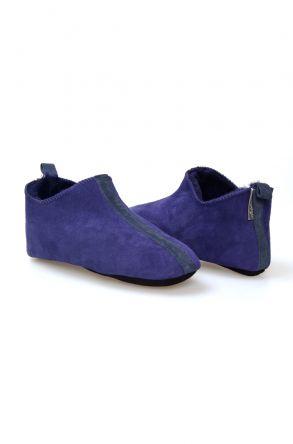 Pegia Hakiki Kürk Bayan Ev Ayakkabısı 980536 Mor
