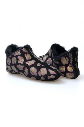 Pegia Women's Sheepskin Slippers 980540 Black