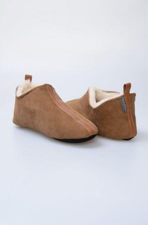 Pegia Hakiki Kürk Bayan Ev Ayakkabısı 980543 Kum