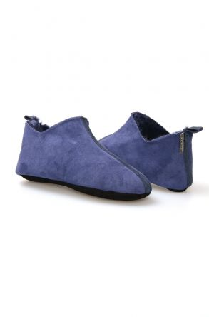 Pegia Women's Shearling Home Slippers 980460 Navy blue