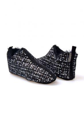 Pegia Women's Printed Sheepskin Slippers 980557 Black