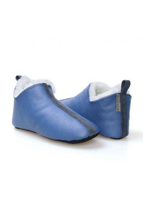 Pegia Women's Sheepskin Slippers 980562 Blue