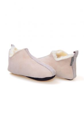 Pegia Women's Sheepskin House Shoes 980586 Gray