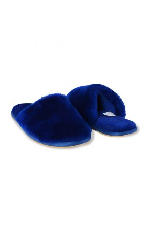 Pegia Women Shearling Slippers 191092 Navy blue