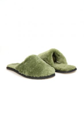 Pegia Women Shearling Slippers 191092 Green