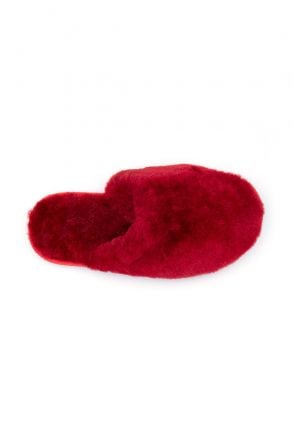 Pegia Women Shearling Slippers 191092 Red
