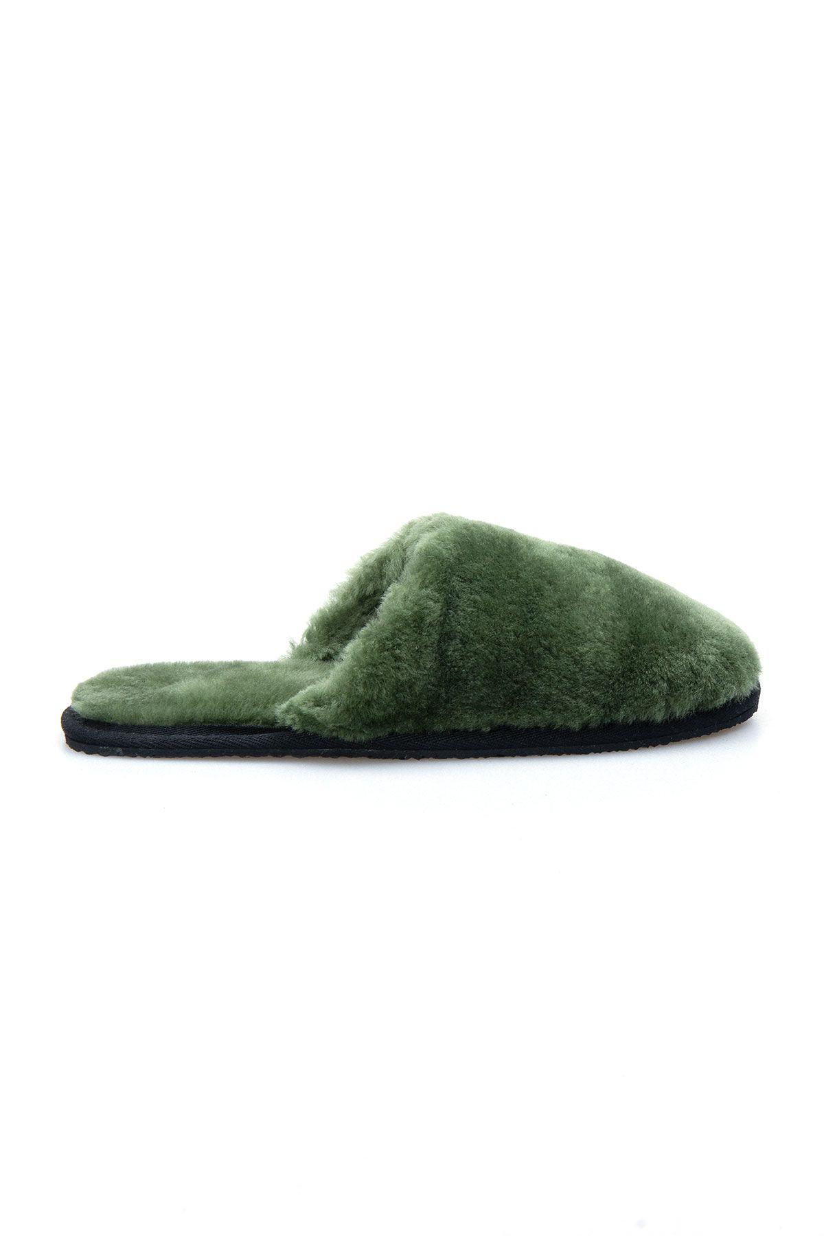Pegia Женские Меховые Домашние Тапочки 191092 Зеленый