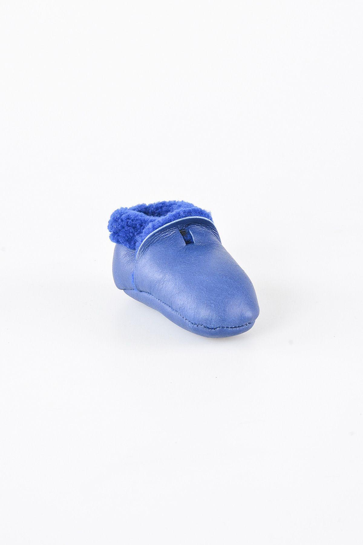 Pegia Hakiki Kürk Bebek Patiği 143004 Lacivert