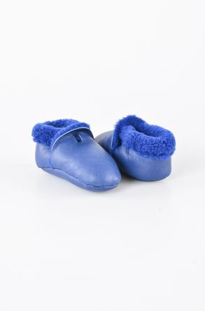 Pegia Shearling Baby's Bootie 143004 Navy blue