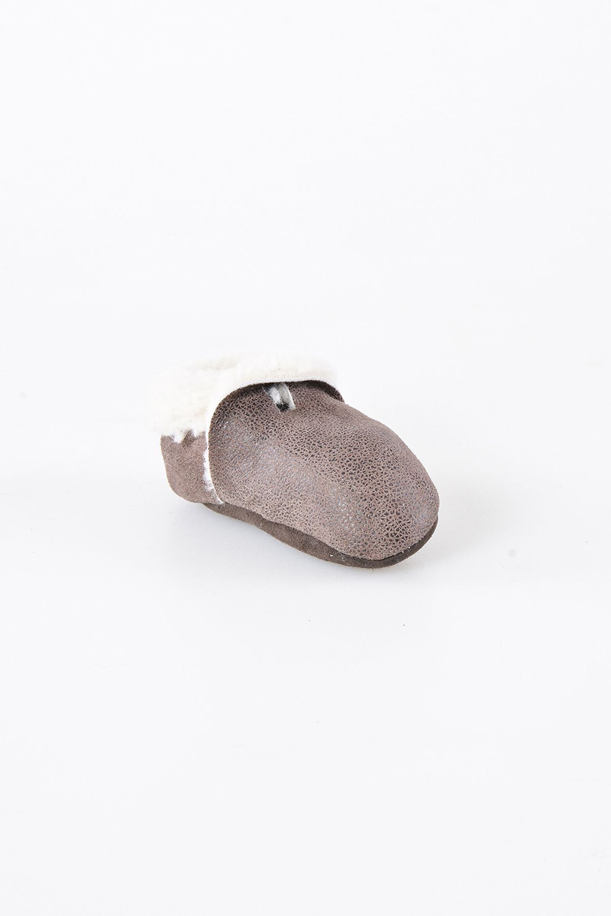Pegia Hakiki Kürk Bebek Patiği 143004 Koyu Kahve