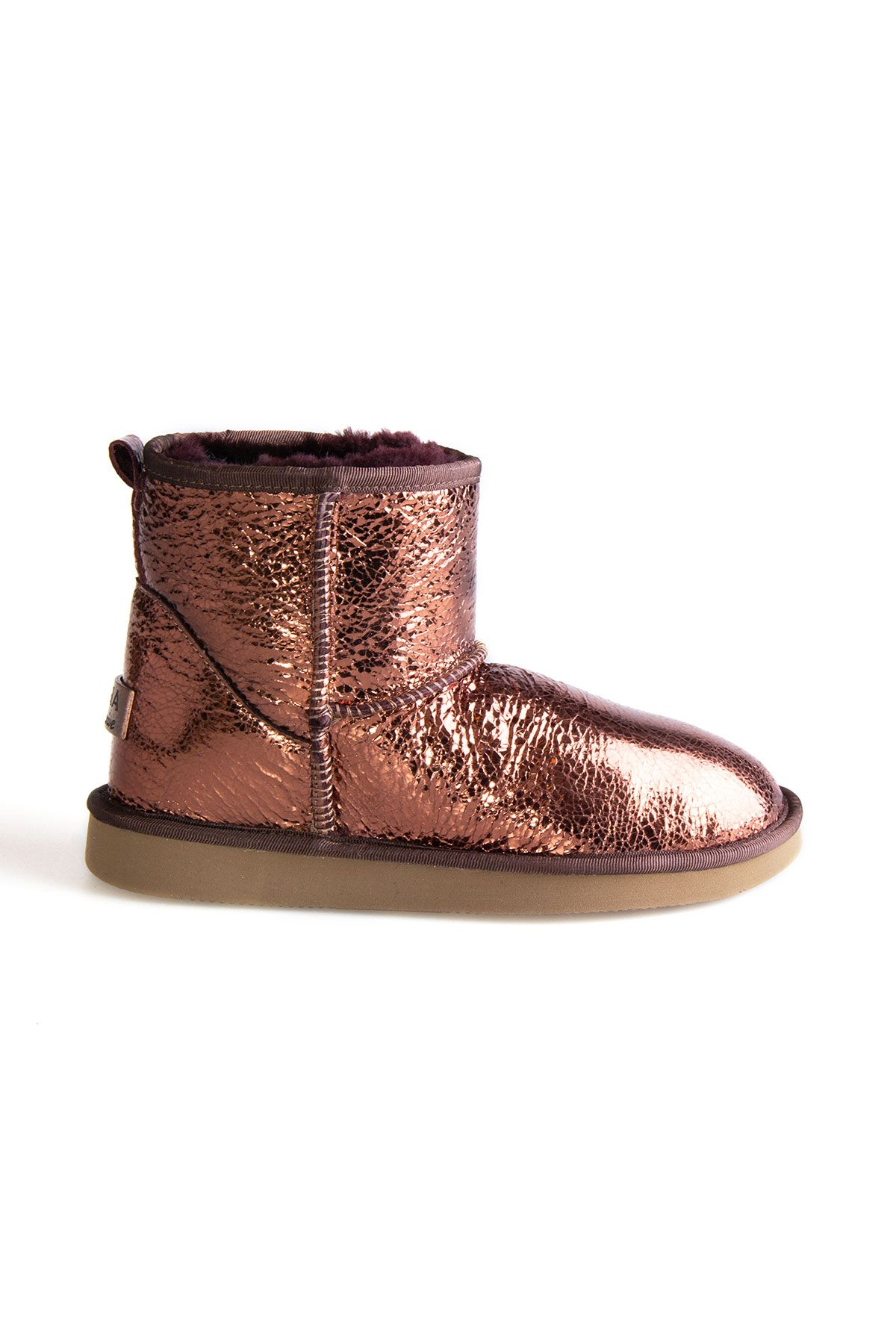 Pegia Shearling Women's Boots With A Pattern 191027 Bronze