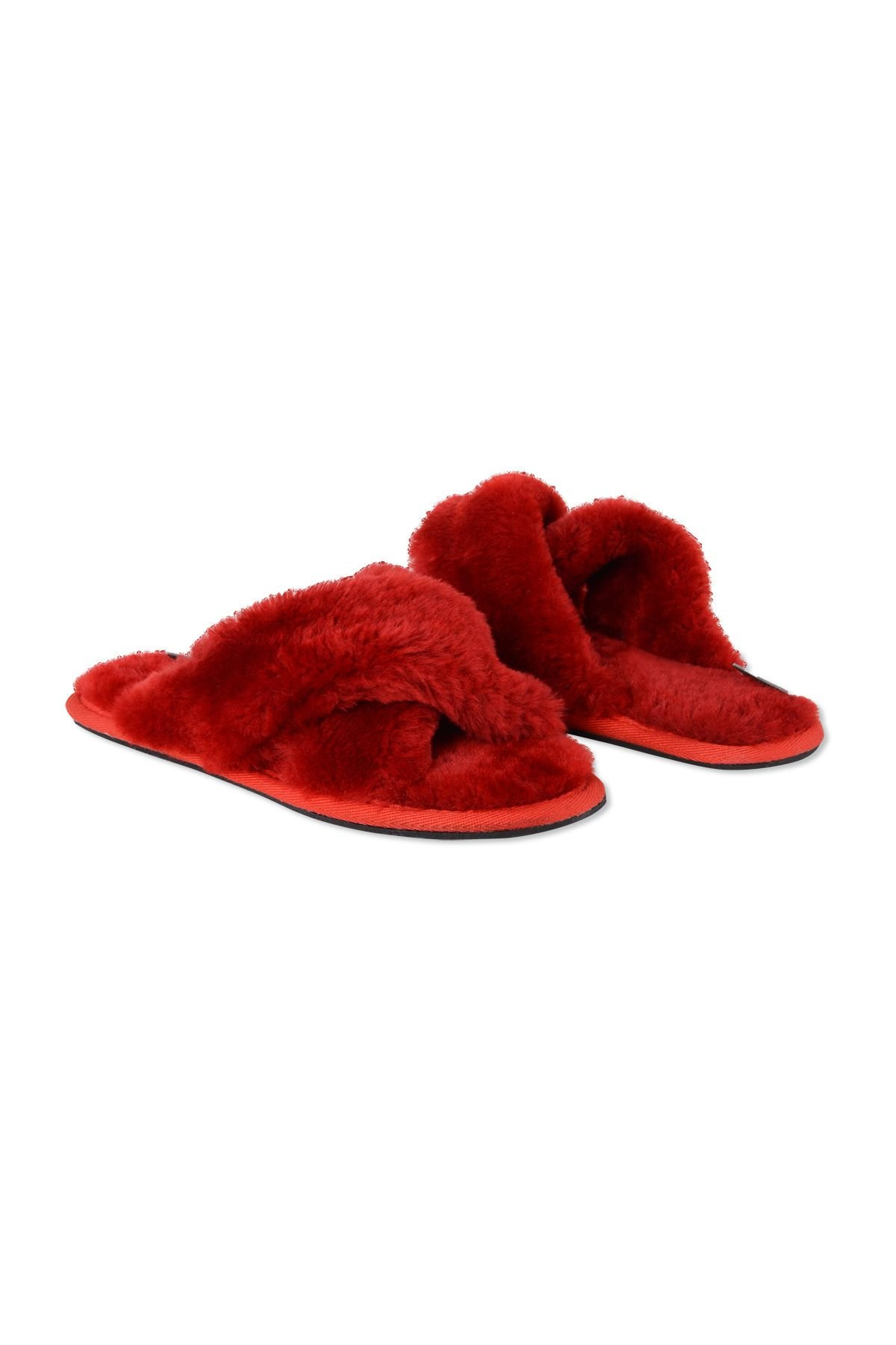 Pegia Women's Shearling Slippers 191096 Red