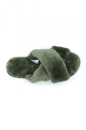 Pegia Women's Shearling Slippers 191096 Green