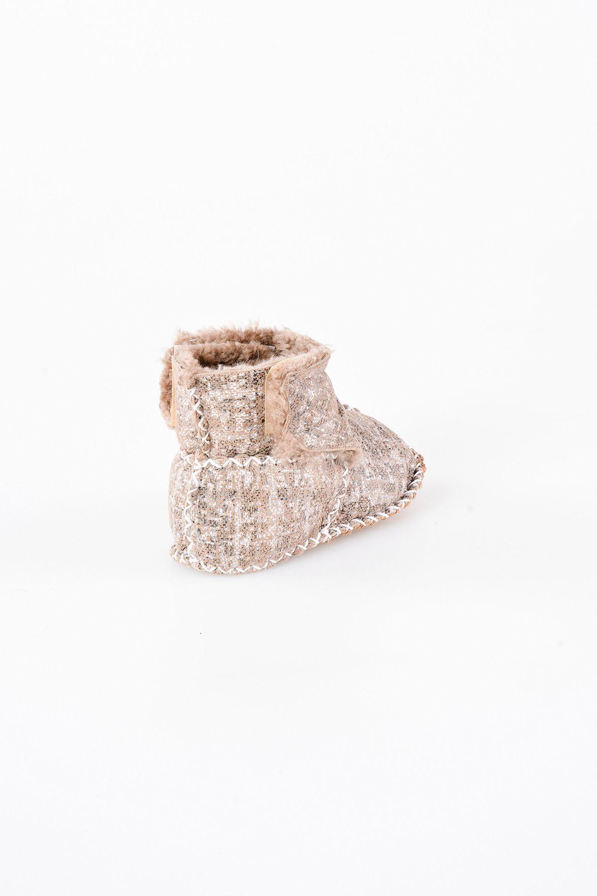 Pegia Hakiki Kürk Cırtlı Bebek Patiği 141008 Mix Color