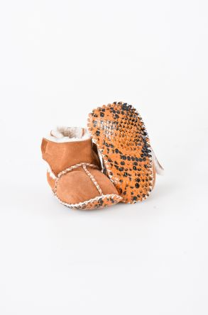 Pegia Shearling Baby's Bootie With A Velcro 141008 Ginger