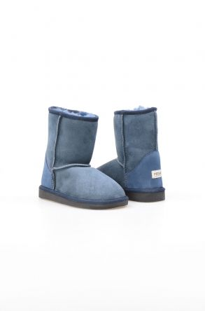 Pegia Genuine Shearling Kid's Boots NY1025 Blue