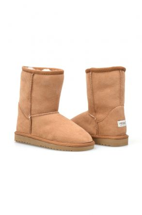 Pegia Genuine Shearling Kid's Boots NY1025 Ginger