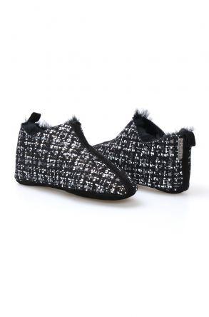 Pegia Women's Sheepskin Home Slippers 101298 Gray