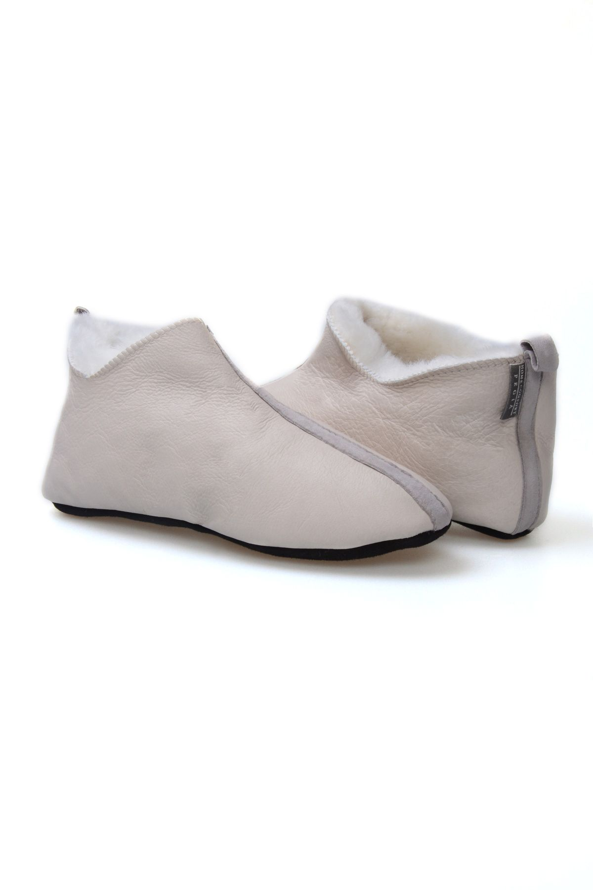 Pegia Women's Sheepskin Slippers 980502 Gray