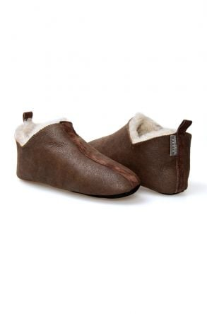 Pegia Hakiki Kürk Erkek Ev Ayakkabısı 111098 Kahve