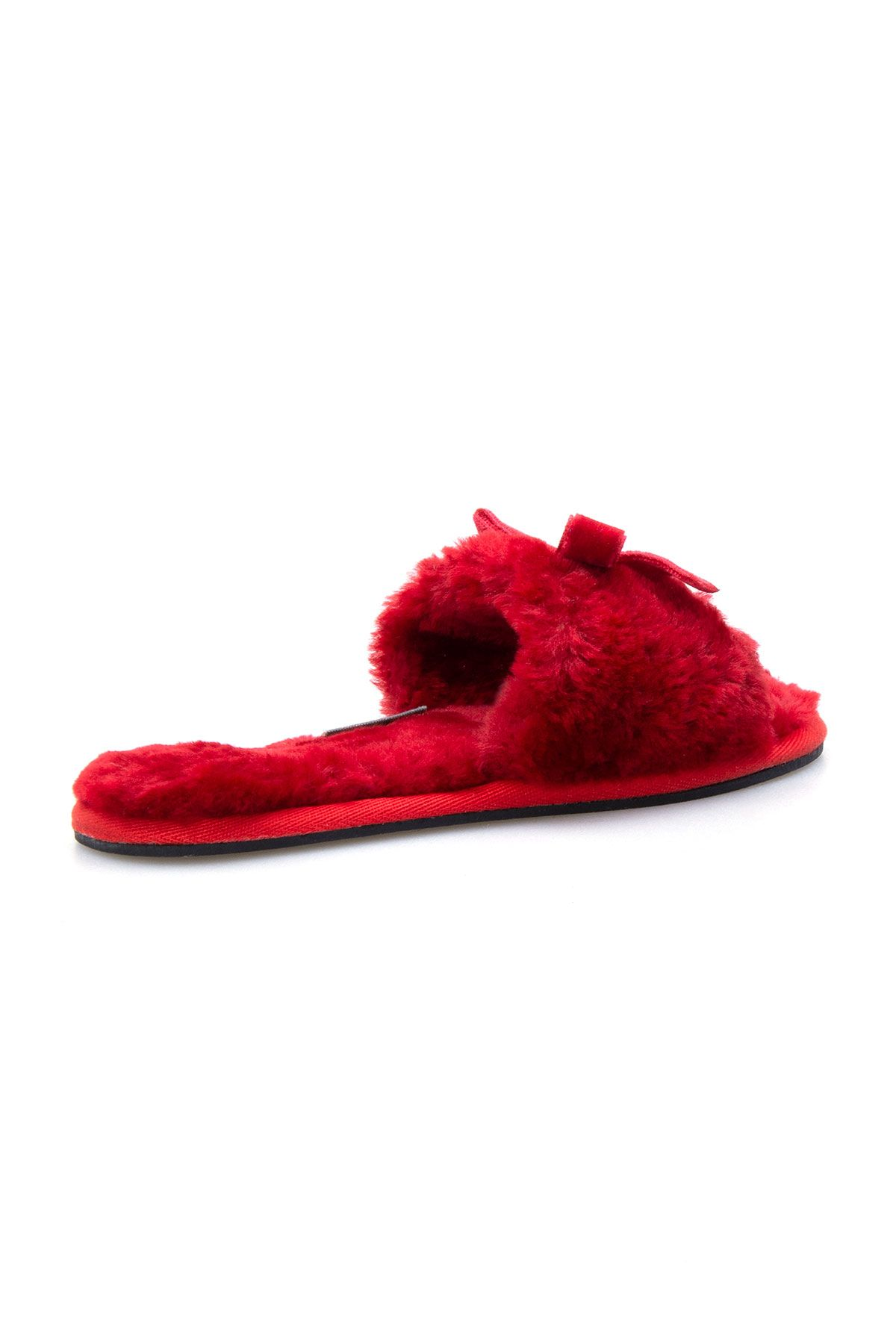 Pegia Women Shearling Slippers With Bow 191093 Red