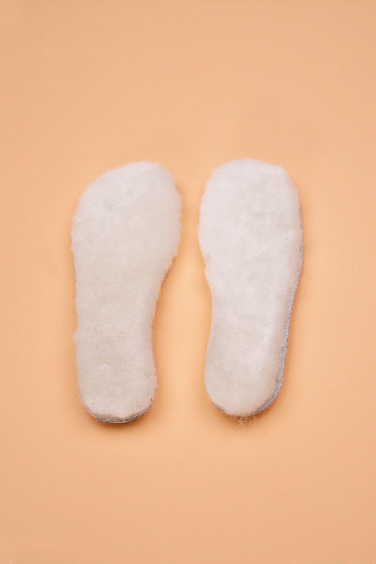 Pegia Hakiki Kürk Kadın Ayakkabı Tabanlık 20TAB20 Beyaz