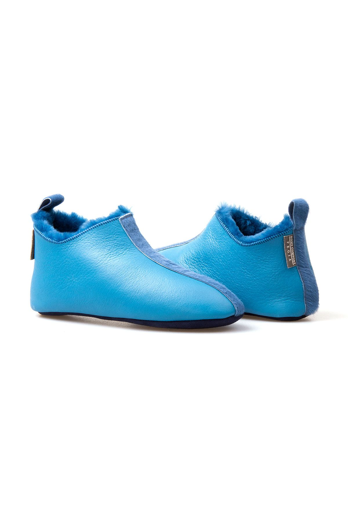 Pegia Women Shearling House Shoes 213502 Turquoise