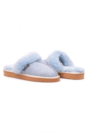 Pegia Genuine Sheepskin Women's House Slippers 212001 Blue