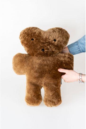 Pegia Genuine Sheepskin Toy Teddy Bear 20TOY03 Brown