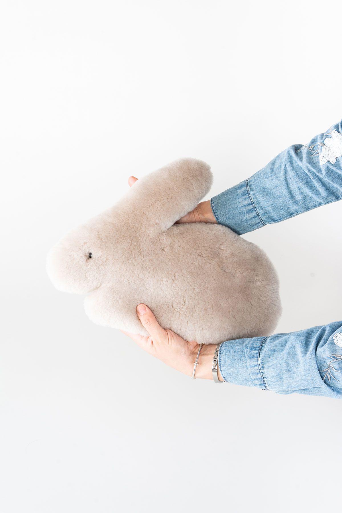 Pegia Hakiki Kürk Oyuncak Tavşancık 20TOY01 Bej