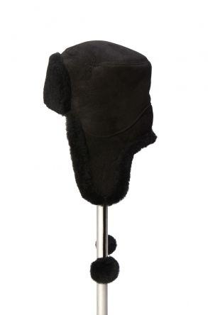 Pegia Genuine Sheepskin Hat 19SB02 Black