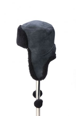Pegia Genuine Sheepskin Hat 19SB02 Navy blue