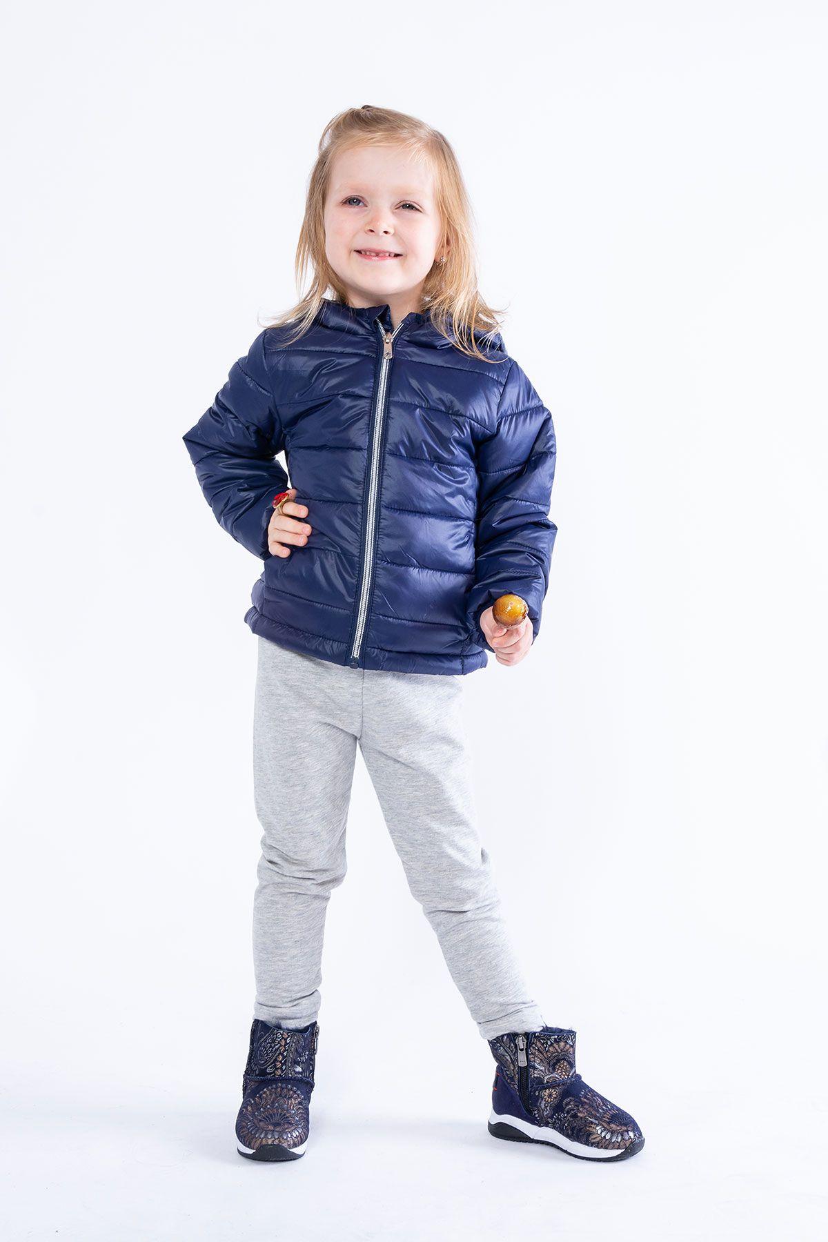 Pegia Hakiki Kürk Şal Desen Çocuk Spor Bot 185003 Lacivert