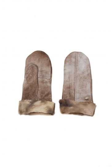 Pegia Shearling Unisex Glove EL-003 Brown