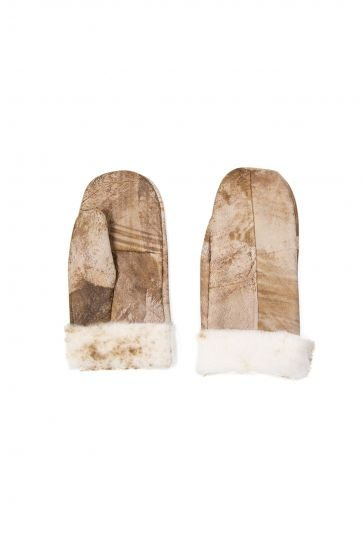 Pegia Genuine Sheepskin Unisex Gloves EL-014 Cream