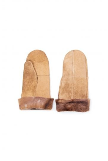 Pegia Genuine Sheepskin Unisex Gloves EL-015 Ginger
