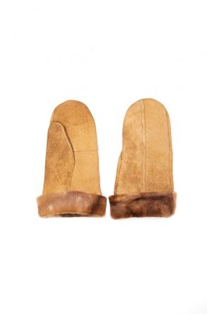 Pegia Genuine Shearling Unisex Gloves EL-016 Ginger