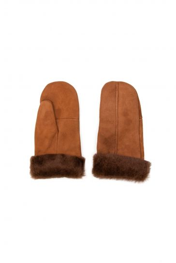 Pegia Genuine Sheepskin Unisex Gloves EL-018 Brown