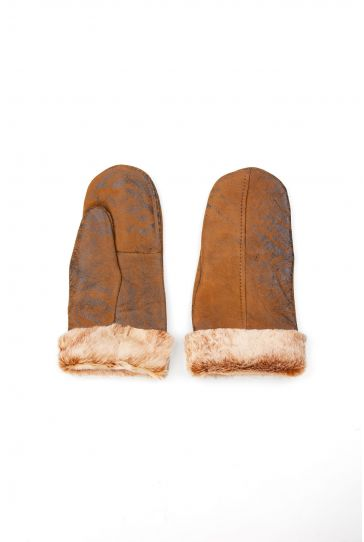 Pegia Genuine Sheepskin Unisex Gloves EL-019 Brown