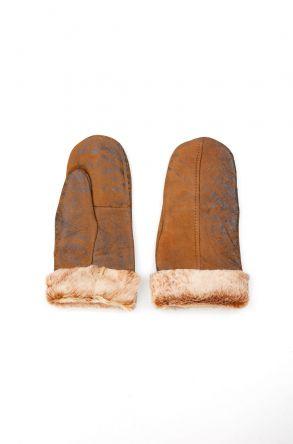 Pegia Genuine Sheepskin Unisex Gloves EL-019 Brown