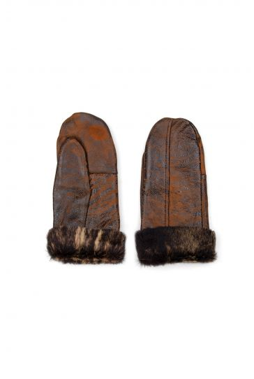 Pegia Genuine Sheepskin Unisex Gloves EL-020 Brown