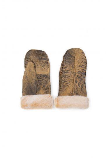 Pegia Unisex Sheepskin Glove EL-022 Sand-colored