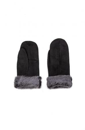 Pegia Unisex Shearling Glove EL-024 Black