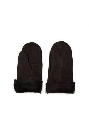 Pegia Unisex Shearling Glove EL-025 Black