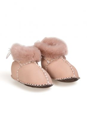 Pegia Babies Laced Shearling Booties 141105 Violet