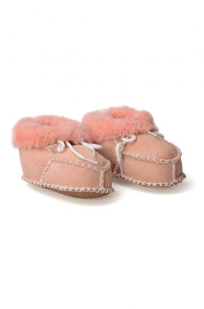 Pegia Shearling Baby's Laced Booties 141105 Powdery