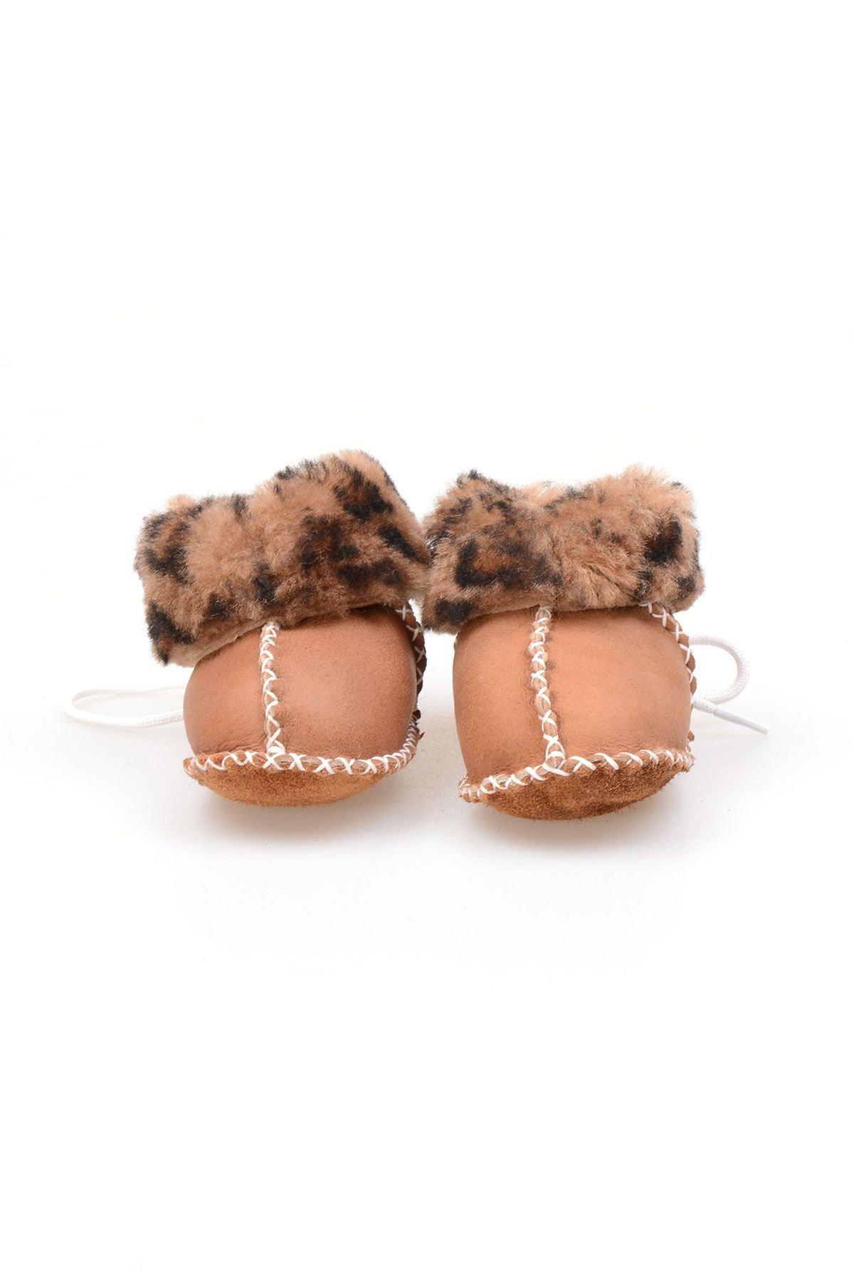 Pegia Genuine Shearling Laced Kid's Booties 141109 Visone